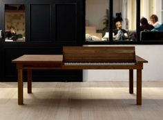 Electric piano dining table.  Cool.  Wish I could play.