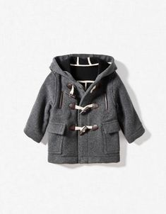 boys hooded duffle-coat Zara coats clothes fashion kid $55.90 children