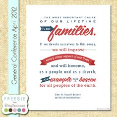 Ballard Family Example Printable Freebie from BitsyCreations #ldsconf #freeprintable #bitsycreations