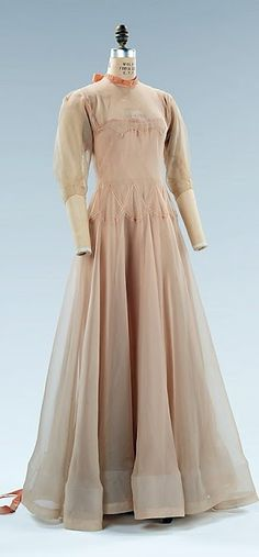 Vionnet Dress - c. 1937 - by Madeleine Vionnet (French, 1876-1975) - Silk - The Metropolitan Museum of Art - @~ Mlle