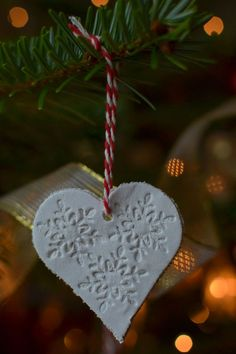 DIY: air drying clay Christmas tree decorations | Decorator's Notebook blog