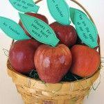 teacher gifts, teacher appl, gift ideas, teacher appreciation gifts, school teacher, appreci idea, apples, appreci gift, first day
