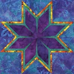 Tropical Star Quilt Block