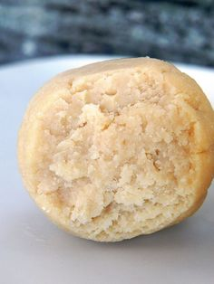 Cake Batter Balls!  These are raw, vegan, high-protein, sugar-free, gluten-free, grain-free, soy-free, nut-free, and seed-free, and they take less than 5 minutes to make.  WOW!
