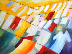 Original Oil Painting Linearity II by SBGallery on Etsy