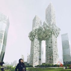 Looks like something from the past.  Two skyscrapers for Seoul, Korea designed by Dutch architects MVRDV
