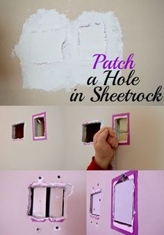 How to patch a large hole in sheetrock.