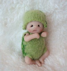 Turtle Baby by Lovinclaydolls, via Flickr