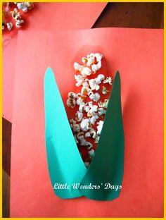 popcorn craft via Little Wonders' Days