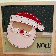Santa face gift tag