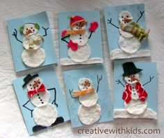Scrappy Snowman Cards