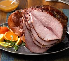 Recipes: Baked Ham with Honey-Chipotle Glaze / Bourbon Baked Ham / Ham with Spiced-Cherry Sauce / Apricot Baked Ham / Spiced Grilled Ham with Citrus Glaze / Thyme-Basted Ham with Roasted Grapes