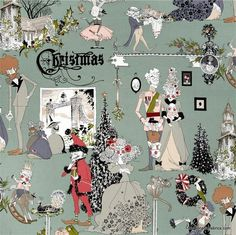 Fabric... A Ghastly Holiday in Headstone by Alexander Henry Fabrics REMNANT (34 x 44)