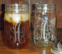 My obsession with all things Southern and Monogrammed has reached a pinnacle. MONOGRAMMED MASON JARS!!!!!!!!!! I NEEEEEEEEEEEEEEEEEEEEEEEEEEEEEEEED THESE!