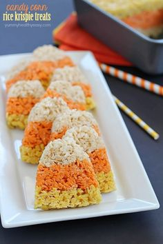 Yes, that is Rice Krispy Treat Candy Corn