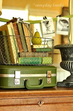 Cool green suitcase