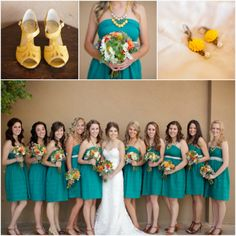 Turquoise and yellow, Austin Gros Photography, Floral by Jan Dekker Designs