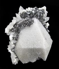 Scheelite with Lollingite and Calcite