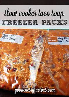 Crock Pot Freezer Packs: Taco Soup #CrockPot
