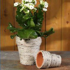 Neat and Natural Flower Pot | FaveCrafts.com