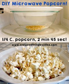 Make your own popcorn is easy and healthier than the stuff from the bag!
