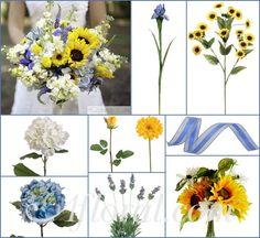 Jenny's Cornflower Blue and Yellow Sunflower Inspiration Board