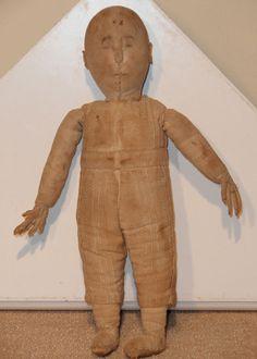 Rare 19th C Boy Cloth Doll