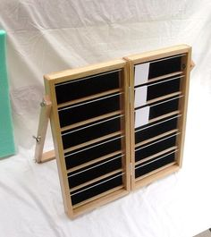 Folding Earring Display Rack by artisanwoodcrafting on Etsy, $155.00
