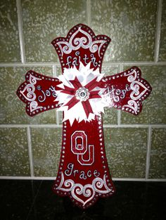 Custom 16 Painted Wooden Cross by MaddielouAndMe on Etsy, $42.00