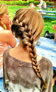 Side sweeped french braid