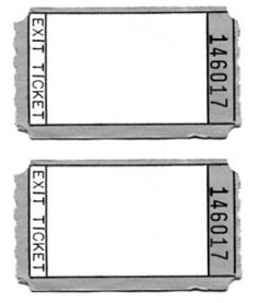 Editable Exit Ticket C Ile Web E Hukmedin
