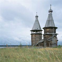 Another North Russian wooden church. Yandomozero, Karelia region, Church of St Barbara the Martyr