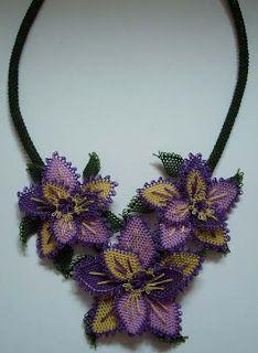Needle lace jewelry, oya