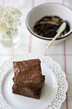 Fudge Brownies from @Jen Laceda   Tartine and Apron Strings