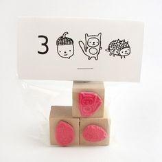 woodland animals stamp set: oh hai, adorable.