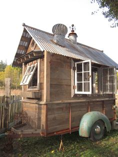 Trailer Shed. This would make a cute chicken coop.