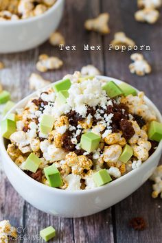 Tex Mex Popcorn on ASpicyPerspective.com #popcorn #texmex