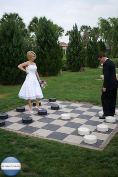 I want so many games at my wedding- how fun would this be!?