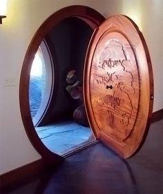 Hobbit door decor, doors, idea, doorway, front door, dream, circular door, hobbit door, hous