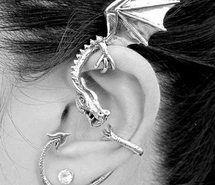 Piercing dragon jewelry for ear