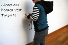 sleeveless hooded vest tutorial tutorials, sleeveless hood, hood vest, vest tutori, diy kid