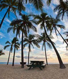 Camping at Hulopoe Bay - Island of Lanai, Hawaii