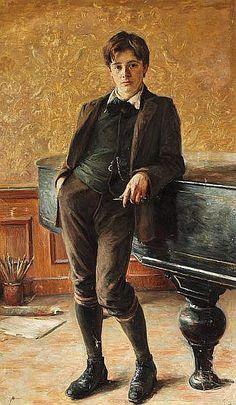 Ivar Rosenberg by Bertha Wegmann - c.1900