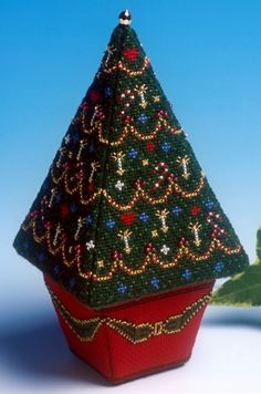 image of Large Christmas Tree 3D Cross Stitch Kit