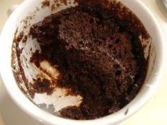 My youngest daughter, Justine, gave me a challenge yesterday.  Devise a Weight Watcher-friendly, preferably vegan, 5-Minute Chocolate Mug Cake.  I vaguely remembered hearing about this cake before, but hadn't looked into it.  So, I set about meeting her challenge.