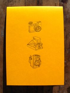 Retro camera notebook  Letterpress by Wafourouletterpress on Etsy, €6.50