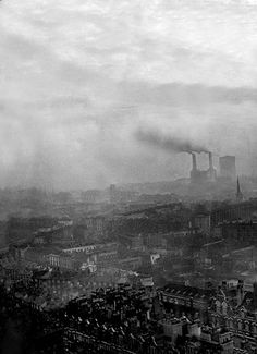 This picture was taken at sunset from the top of Westminster Cathedral in 1953. London faced another killer smog in 1953 after 48 hours of fog trapped the smoke belching from millions of London's chimney pots