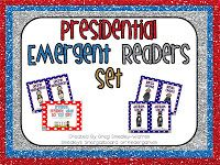 This is a set of FOUR emergent reader books for President's Day!