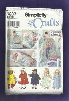 Simplicity 9833  Doll Clothes and Traveling by DaisyMaeandMe, $8.00