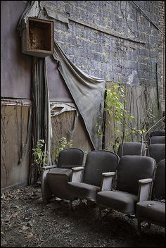 Abandoned theater.